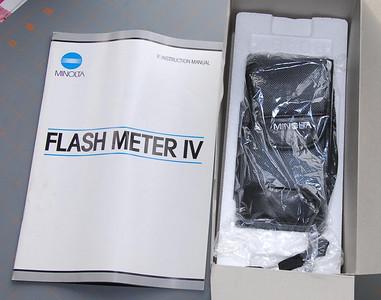 Minolta Flash Meter IV with box, manual