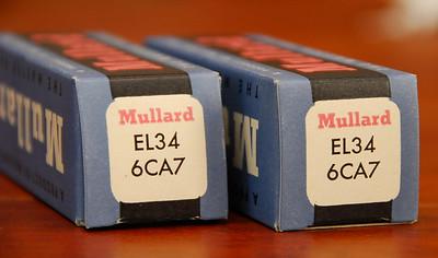 Pair NIB Mullard EL-34 / 6CA7