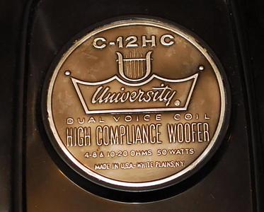 University Dual Voice Coil Woofer C-12HC