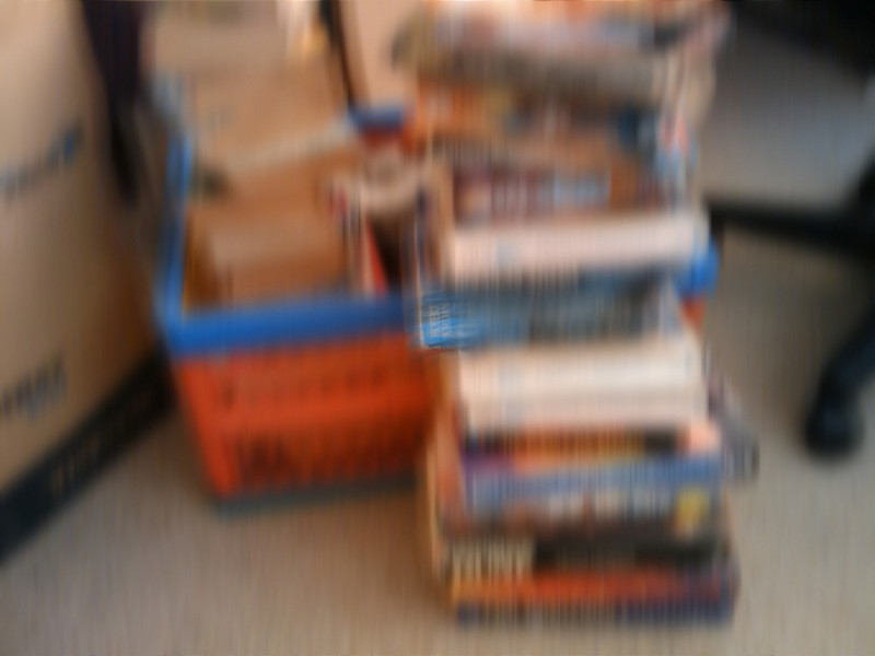 Fuzzy books in soft focus take 2