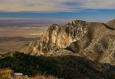 from Guadalupe Peak summit