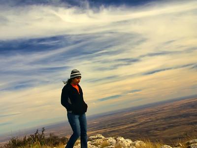 on Guadalupe Peak summit