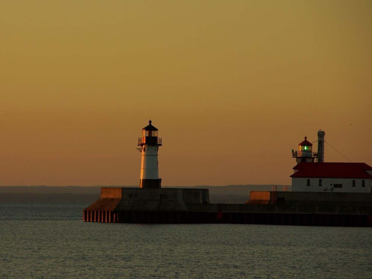 Duluth, light on Lake Superior