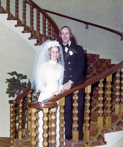 EganWeddingStairs1973-1a