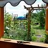 Blick aus dem Fenster an einem heißen Julitag