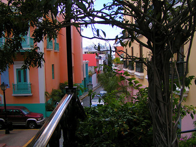 Alleyway in front of hotel