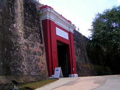 City wall gate from outside