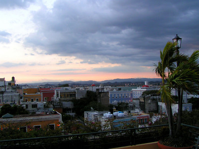 View of Old San Juan from top of hotel