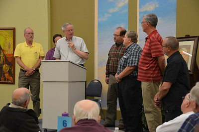Fr. John van den Hengel thanks the out-going council