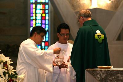 The novices with Fr. John van den Hengel.