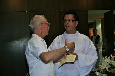 Novice master Fr. John Czyzynski with Luis Fernando Orozco-Cardona (novice)