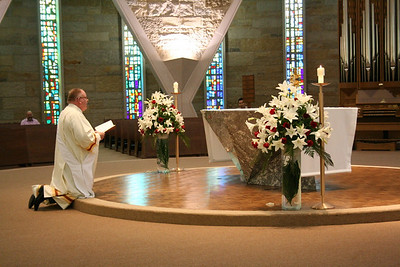 Dn. David Nagel during Holy Hour.