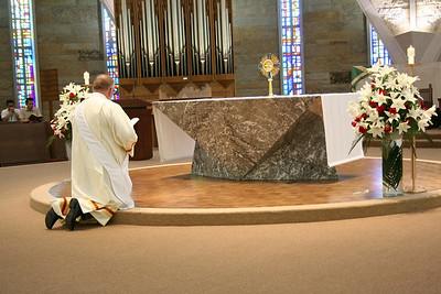 Dn. David Nagel before the Eucharist.