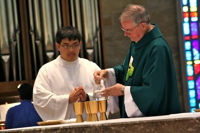 Novice Joseph Vu and Fr. John van den Hengel
