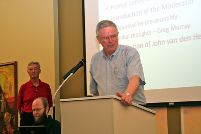 Fr. John van den Hengel, general councilor, extends the greetings of the general administration to the province.