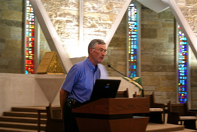 Fr. Tom Cassidy accepts his election to a second term.