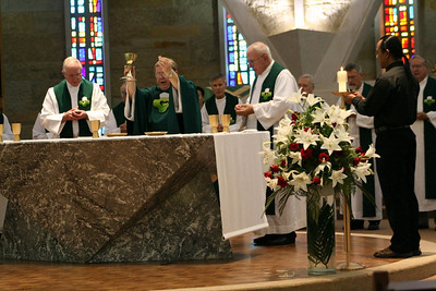 The South Dakota community organized Tuesday's liturgy.  Those from South Dakota include:  Fr. Bernie Rosinski, Fr. Bill Pitcavage, Fr. Joe Dean and Fr. Hendrik.