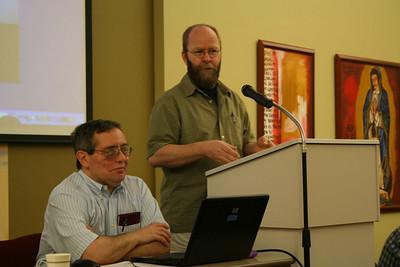 Br. Frank Presto, secretary of the assembly, and Fr. Greg Murray, moderator.