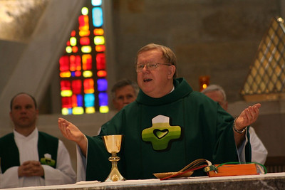 Fr. Bill Pitcavage was the main celebrant at Tuesday's liturgy.