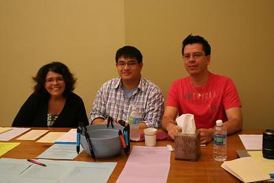 The assembly tellers:  Lisa Brahm, Novice Joseph Vu and Novice Fernando Orozco