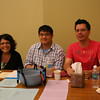 The assembly tellers:  Lisa Brahm, Novice Joseph Vu and Novice Fernando Orozco