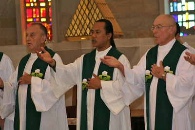 Fr. Frank Wittouck, Fr. Hendrik, and Fr Tom Lind