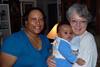 Grandma Carolyn and Grannie Annie with Elijah.