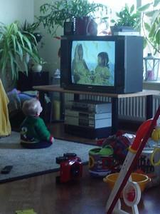 watching TV...