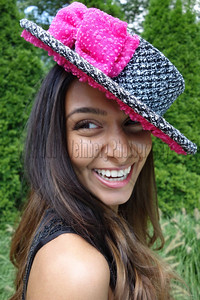 Pink Boater Hat - Hats and Headpieces handcrafted by http/www.elishacaplan.com/