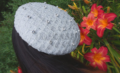 Small White Hat - Hats and Headpieces handcrafted by http/www.elishacaplan.com/