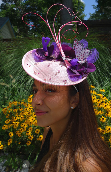 Pink Saucer - Hats and Headpieces handcrafted by http/www.elishacaplan.com/