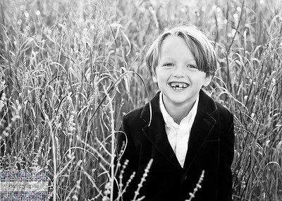 Bobby in the Tall Tall Grass bw (1 of 1)