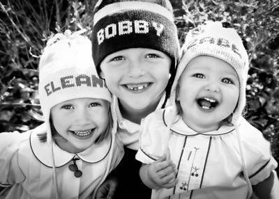 THREE Smiles! tighter crop bw (1 of 1)