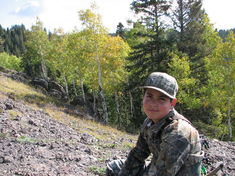 Jacob was a little tired here.  He did an awesome job carring his pack and hiking up and down the mountains.