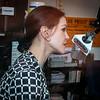 Priscilla Presley being interviewed on Sirius radio at Graceland