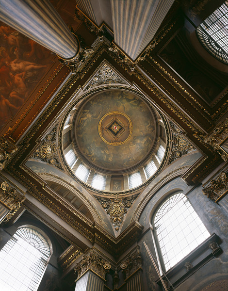 OLD ROYAL NAVAL COLLEGE, Interior of Dome in Painted Hall, (c)James Brittain Photography