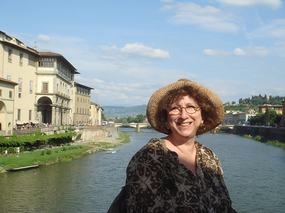 Shelley on Ponte Vecchio