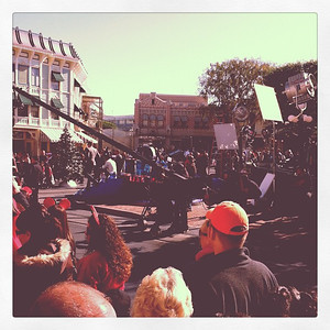 Filming the Christmas Day Parade