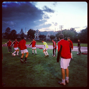 WUSTL soccer practice. I sure hope the clouds are moving away. via Instagram http://instagram.com/p/fyapadmFJK/