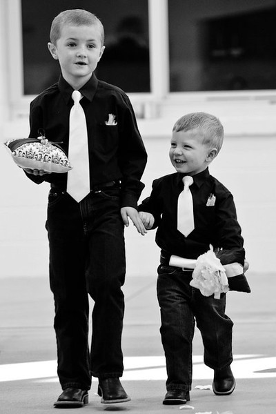 Dillon & Wyatt as Ring Bearers