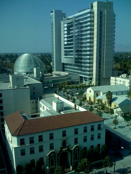 San jose city hall view from mlk library