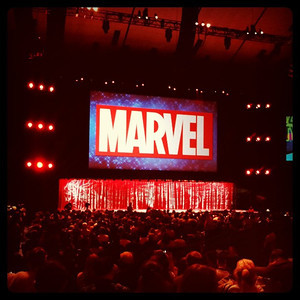 The Marvel panel @D23expo