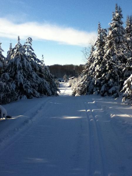 Home Run Hill at Forbush Corner, December 27, 2012.