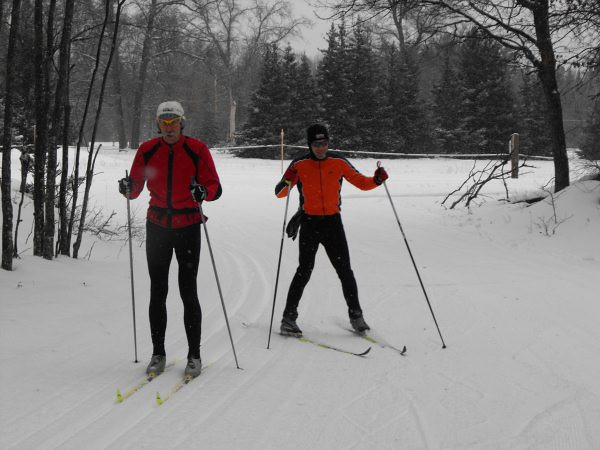 NordicSkiRacers Bill Kaltz and Doug Cornell at Hanson Hills!