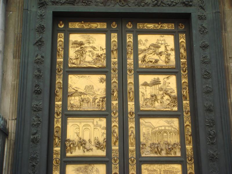 Ghiberti's bronze doors on Babtistery 3