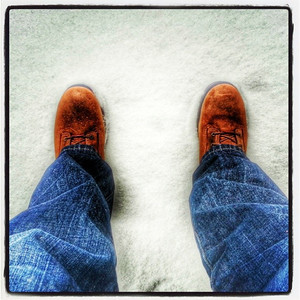 I have new Timberland boots. Bring in all the snow you got! via Instagram http://instagram.com/p/iyx-IkGFAw/