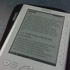 Trying out the new Sony Reader on the ferry. No keyword search, slow to change the page but very easy to read.