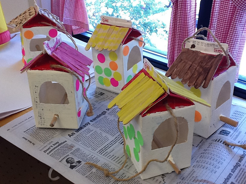 Birdhouses made by the bluebirds!