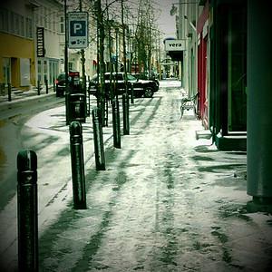 Á leið í vinnu 15. mars 2011