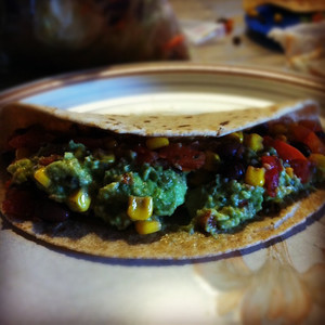Veggie Taco with Homemade Guacamole